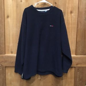Vintage Tommy Jeans Fleece Pullover Sweater XL EUC